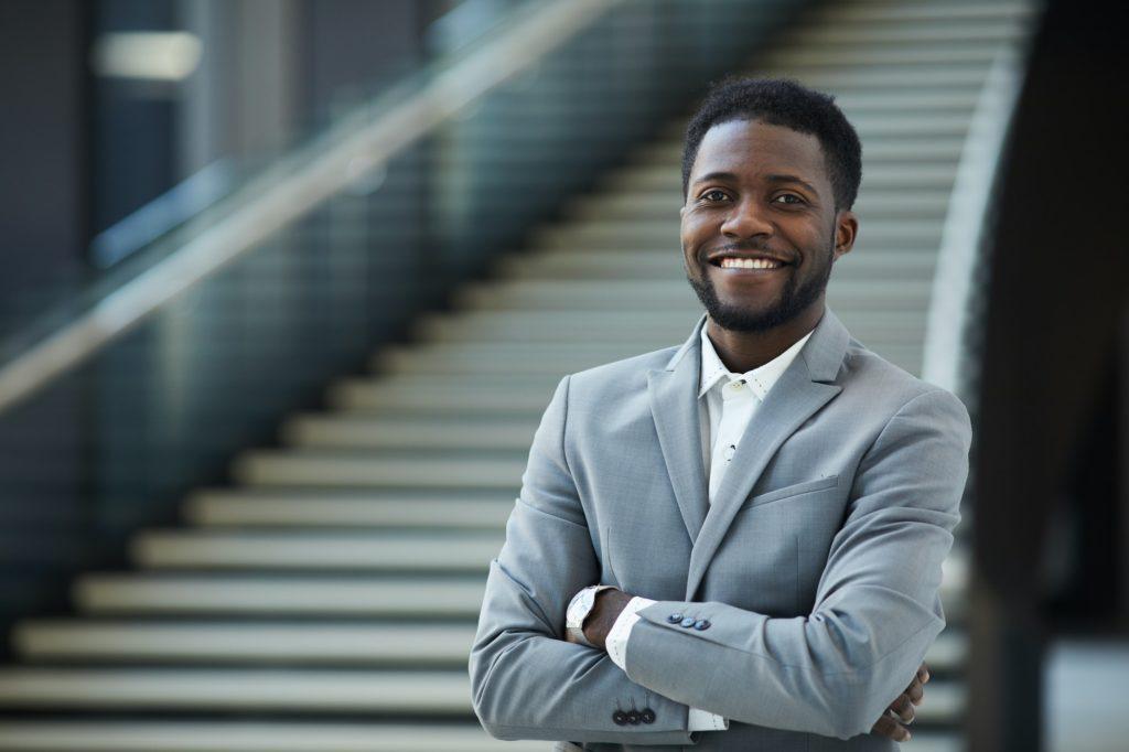Successful black business executive