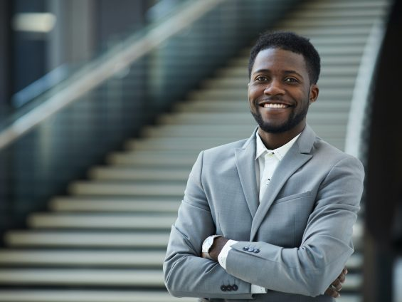 Successful black business executive